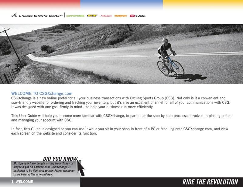 Cycling Sports Group B2B Web Training